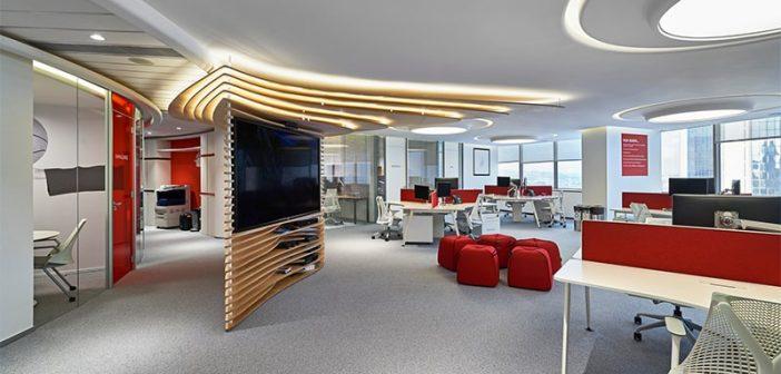 Ý tưởng sắp xếp nội thất văn phòng mang may mắn