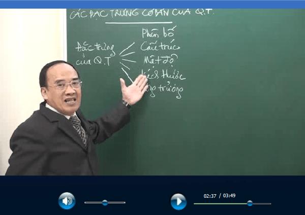 Bài giảng của thầy Bạch được ghi lại thành video