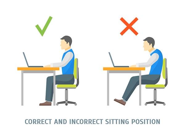 Lựa chọn bàn làm việc và tư thế ngồi phù hợp giúp bảo vệ mắt