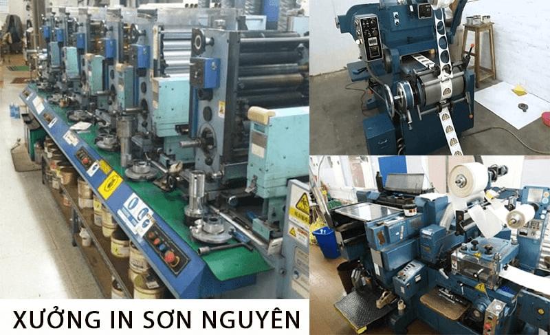 Xưởng in tại công ty in Sơn Nguyên