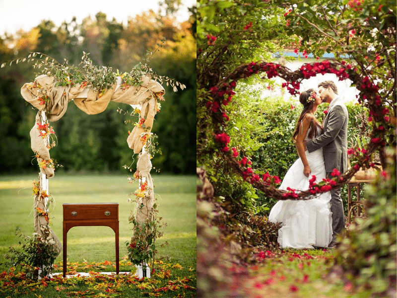 Ý tưởng chụp ảnh cưới cổng hoa mùa xuân