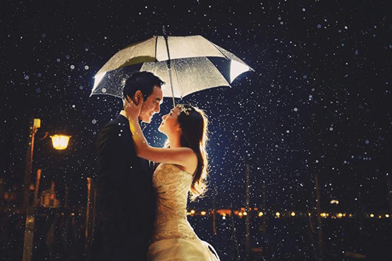 Ý tưởng chụp ảnh cưới trú mưa